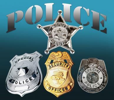 Free Stock Photo of Police Badges