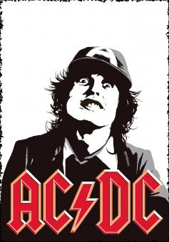 Free Stock Photo of AC/DC Angus Young Poster