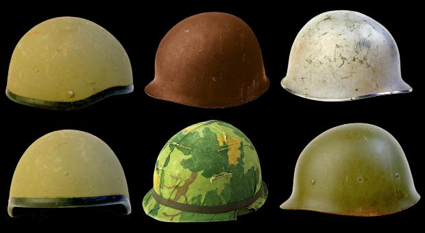Free Stock Photo of Military Helmets