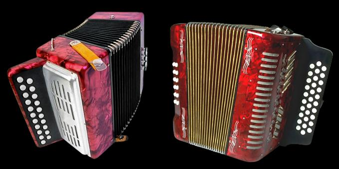 Free Stock Photo of Two Accordions