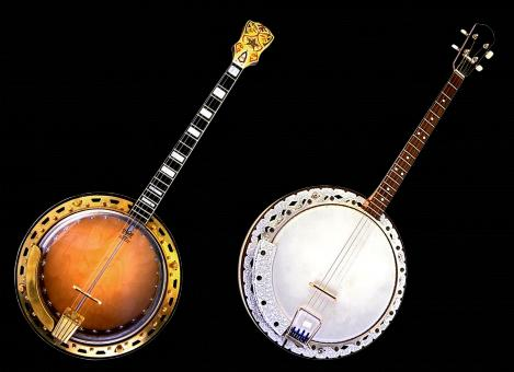 Free Stock Photo of Two Banjos