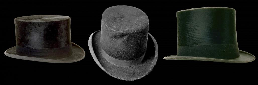 Free Stock Photo of Cylinder Hats