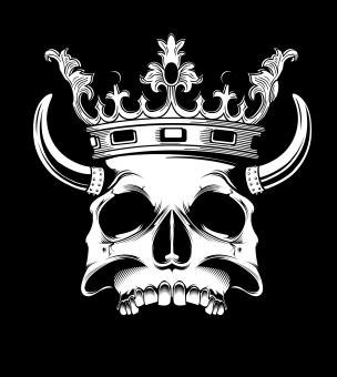 Free Stock Photo of Skull with Horns and Crown