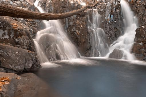 Free Stock Photo of Blue Rose River Falls - HDR