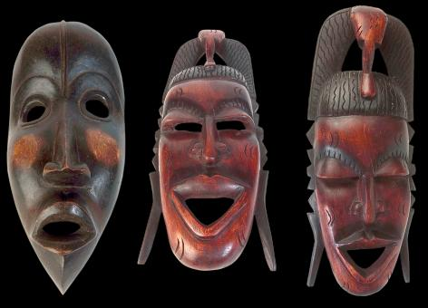 Free Stock Photo of Carved Wooden Masks