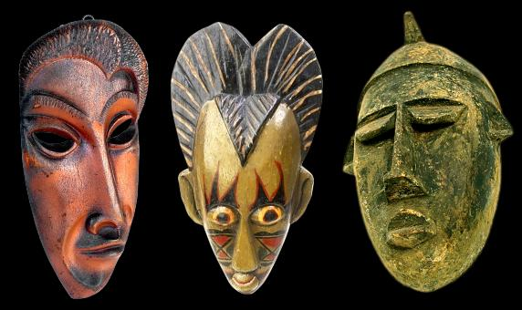 Free Stock Photo of Carved Masks