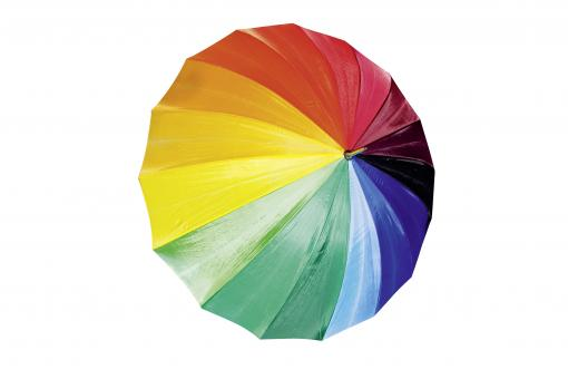 Free Stock Photo of Colorful Umbrella