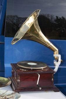 Free Stock Photo of Old Gramophone