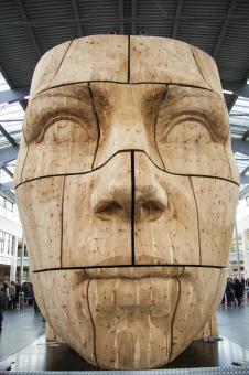 Free Stock Photo of Giant Carved Head
