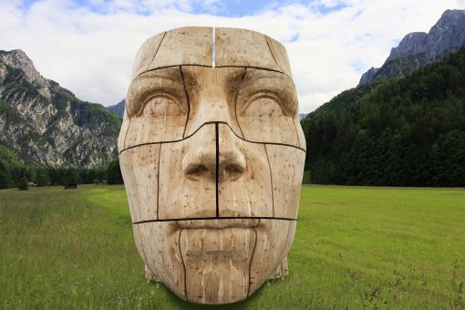 Free Stock Photo of Carved Head