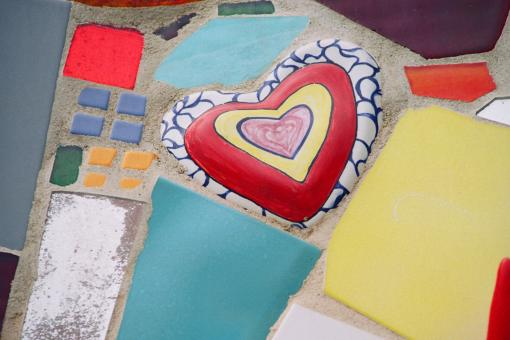 Free Stock Photo of Painted Heart