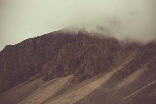 Free Stock Photo of Hills of Hvalnesfjall Mountain, Iceland
