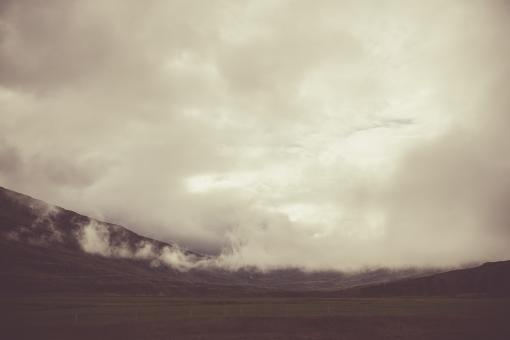 Free Stock Photo of Icelandic Cloudy Landscape