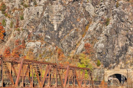 Free Stock Photo of Rugged Autumn Railroad - HDR