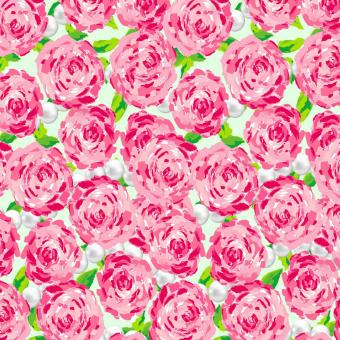 Free Stock Photo of Pearl Roses Seamless Pattern