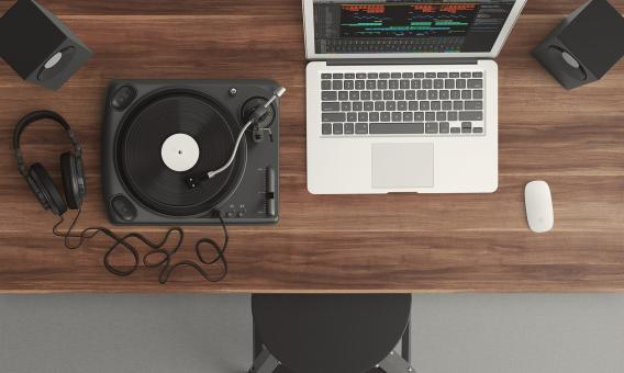 Free Stock Photo of DJ Table