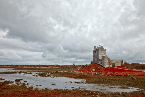 Free Stock Photo of Dunguaire Castle - Blood Red HDR