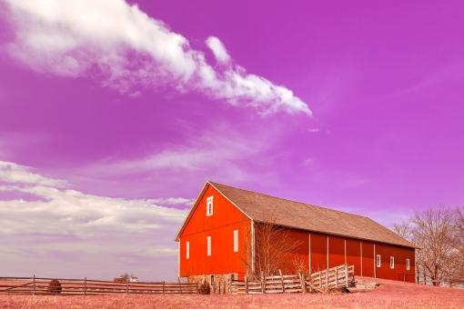 Free Stock Photo of Spangler House Farm - Candy Fantasy HDR