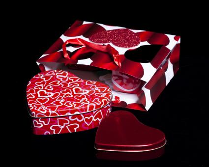 Free Stock Photo of Heart Shaped Gift Boxes