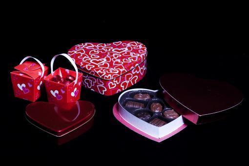 Free Stock Photo of Valentines day gift and chocolates
