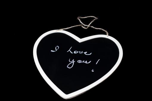 Free Stock Photo of I love you - Text on Chalkboard