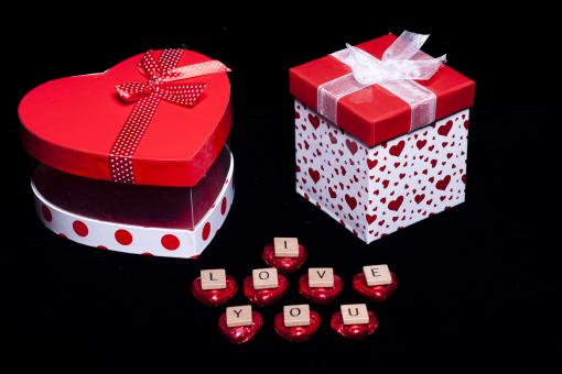 Free Stock Photo of Gift boxes with I Love You