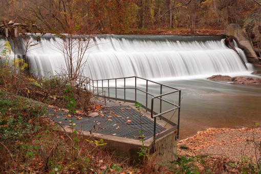 Free Stock Photo of Bloede Dam Waterfall