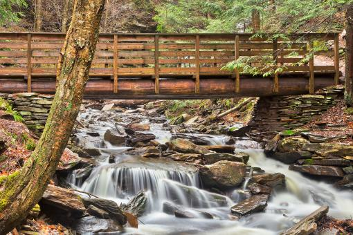 Free Stock Photo of Rustic Kitchen Creek Bridge - HDR