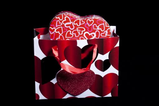 Free Stock Photo of Valentines Bag and Gift box