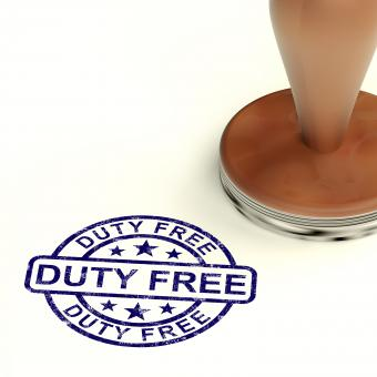 Free Stock Photo of Duty Free Stamp
