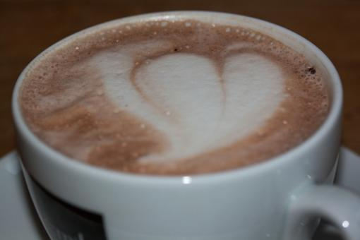 Free Stock Photo of Heart Cappuccino