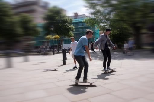 Free Stock Photo of Skating in the City