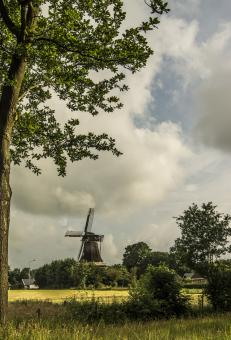 Free Stock Photo of Dutch Cornmill
