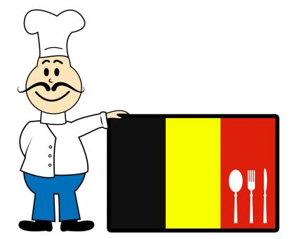 Free Stock Photo of Chef Belgium Indicates Cooking In Kitchen And Catering