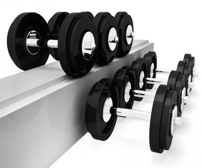Free Stock Photo of Exercise Gym Represents Workout Equipment And Exercises 3d Rendering