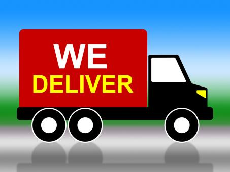 Free Stock Photo of We Deliver Represents Transporting Parcel And Moving