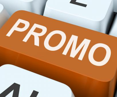 Free Stock Photo of Promo Button Shows Discount Reduction Or Save