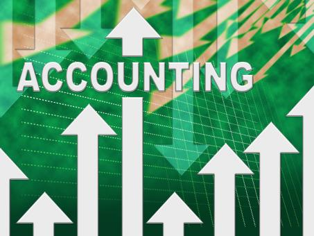 Free Stock Photo of Accounting Graph Shows Paying Taxes And Accounts