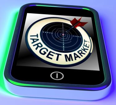 Free Stock Photo of Target Market On Smartphone Shows Targeted Customers