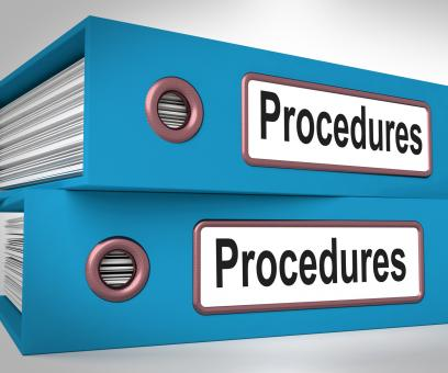 Free Stock Photo of Procedures Folders Mean Correct Process And Best Practice