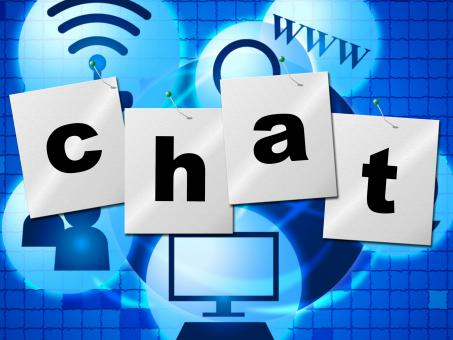 Free Stock Photo of Chatting Chat Represents Telephone Typing And Communicate