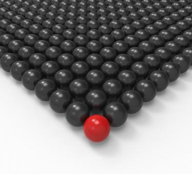 Free Stock Photo of Leading Metallic Ball Showing Leadership Or Acheiving