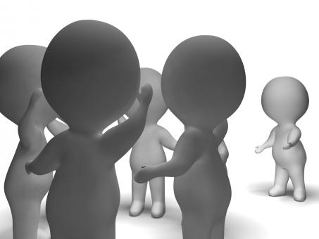 Free Stock Photo of Excluded From Group 3d Character Showing Bullying