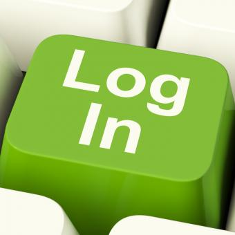 Free Stock Photo of Log In Computer Key Green Showing Access And Entering
