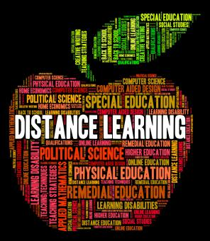Free Stock Photo of Distance Learning Words Indicates Correspondence Course And Developmen