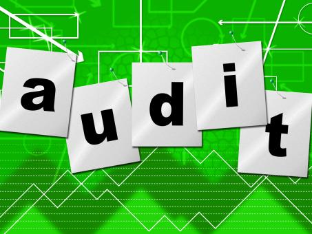 Free Stock Photo of Graph Audit Indicates Auditing Infograph And Scrutiny