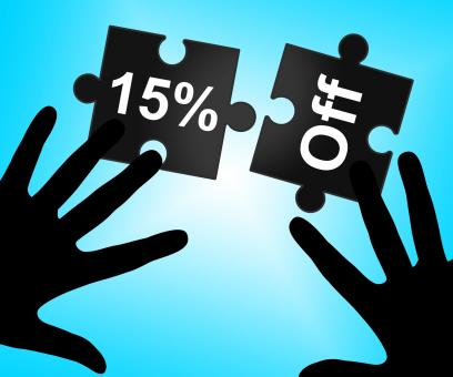 Free Stock Photo of Fifteen Percent Off Represents Sales Promo And Offer