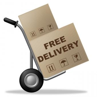 Free Stock Photo of Free Delivery Shows With Our Compliments And Box