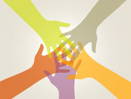 Free Stock Photo of Support and Union - Partnership Concept with Hands