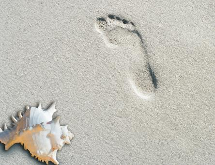 Free Stock Photo of Foot Print
